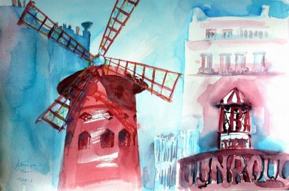 Moulin Rouge Paris von Ingrid Kamper